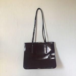 Furla Vintage Leather Bag Burgundy
